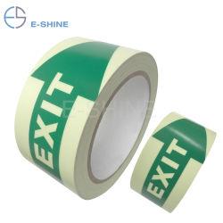 E-Shine matériau PVC PET avec l'impression 5cm de largeur Glow dans Dark Film Stickerphotoluminescent luminescents de bâches de vinyle