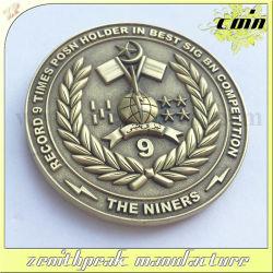 Bolsa de metal personalizado campeão antiga moeda de insígnias