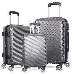 Оптовая торговля мода для рекламных поездок АБС ПК жесткий 3 штук, 20 24 28-дюймовый тележка чемодан для поездок