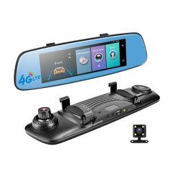 4G Voiture DVR Adas Rétroviseur de surveillance à distance avec enregistreur vidéo numérique et de la caméra à double focale Android Dashcam WiFi 1080P