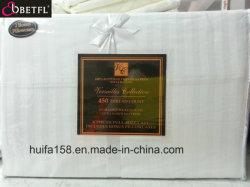 Insiemi bianchi del coperchio del Duvet dell'hotel cinque stelle stabilito dell'assestamento del cotone egiziano di 100% per le tessile domestiche