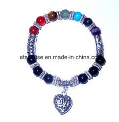 Semi-naturais com Filete de cristal de pedras preciosas bracelete encantador Gemstone Jóias
