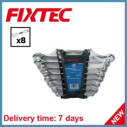 Fixtec 8PCS CRV combinaison clé clé mixte de définir les outils à main