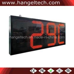 El suministro de la fábrica exterior Jumbo de tiempo digital LED impermeable reloj de pared de la temperatura (24 pulgadas dígito)
