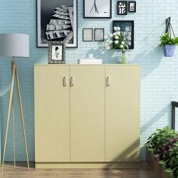 Le teck, érable, hêtre, armoire de stockage de mélamine blanc