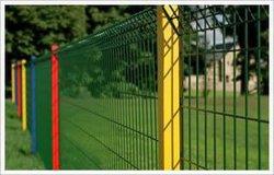 工場販売PVC粉スプレーは熱い浸された電流を通された鋼線の網の塀のパネルに塗った