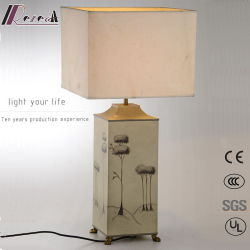 Decorative Hand Painted Metal Bedside Table Lamp