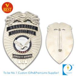 Het Kenteken van de Politie van Guardsline met Veiligheidsspeld in Uitstekende kwaliteit van China