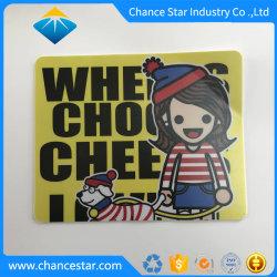 La impresión personalizada de cuero blanco Antideslizante mouse pad de PVC plástico