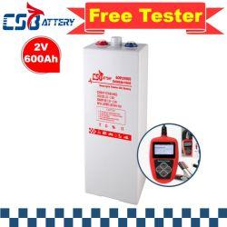 Csbattery 2V600ah 3-5ans de garantie pour batterie gel tubulaire Opzv Marine/moto/vélo Automotive//UPS/Computer-Backup-Power/AAA