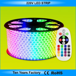 100m один рулон SMD 5050 220V светодиодная подсветка RGB газа
