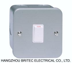 20A de l'interrupteur bipolaire à revêtement métallique