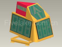 Dreiseitiges Warnschild für die Ausrichtung der AirPort-LED