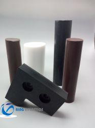 La barra rotonda del Teflon puro di bianco PTFE Rod di alta qualità per PTFE capo arrotondato avvita M6, M8, viti di M10 PTFE