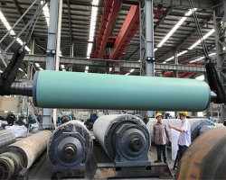 Cable de la máquina de fabricación de papel guía de la unidad de transferencia de la mama la recogida de pelo piedra inclinada de caucho corrugado curvo Ventosa Prensa Camilla Rollo para fábrica de papel
