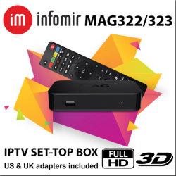Commerce de gros Mag322 Boîte IPTV Ott Set Top Box Commande à distance