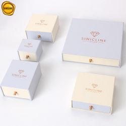 Sinicline un ensemble complet de l'emballage personnalisé sur papier rose un emballage cadeau boîte à bijoux