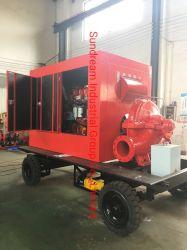 Het vacuüm Eerste Hulp Gespleten Geval die van de Dieselmotor de CentrifugaalPomp van het Water ontwateren