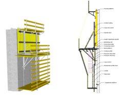 Стали многоразового использования древесины регулируемые скалолазание опалубки