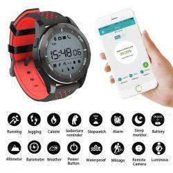Timethinker Bluetooth Smart Watch hommes Smartwatch Reloj inteligente de la pression artérielle Moniteur de fréquence cardiaque étanche lumineux F3
