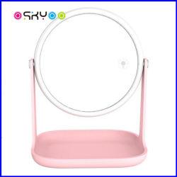 USB die de Vrije Countertop van de Lijst van de Omwenteling LEIDENE Lamp van de Make-up Kosmetische Spiegel laden