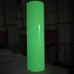 Photoluminescent VinylGloed van het Type Pet/PVC in de Donkere Film 2-12 Uren voor de Tekens van de Veiligheid van de Uitgang