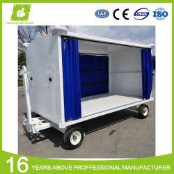 Toldo de lona de poliéster impermeable tejido revestido de PVC laterales tipo cortina para carro de equipajes del aeropuerto