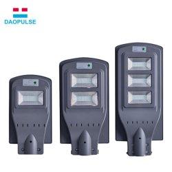 Gran cantidad de lúmenes Impermeable IP65 Sensor de movimiento inteligente al aire libre de la luz de todo-en-Uno LED de luz de calle solar integrada