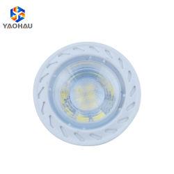 Éclairage domestique IP20 GU10 blanc chaud ronde Gu5.3 MR16 CMS en plastique 2835 Coupe 5W Lampe LED Spotlight