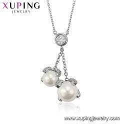 方法Inlayedのガラス中心の水晶ネックレスの鎖のネックレスの宝石類