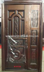 Villa Sunproof sécurité extérieure de porte métallique en acier Cuivre W-STZ-04-2