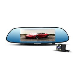 1080P/720p si raddoppiano automobile DVR dello specchio di retrovisione della parte anteriore della macchina fotografica del precipitare dell'obiettivo HD