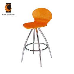노화 방지 대중음식점 현대 방문자 나무로 되는 굽은 목제 스테인리스 의자 (WD-06051)