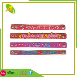 Пользовательские красочные Wristand Rubber-Band силиконового герметика на Рождество браслет (075)