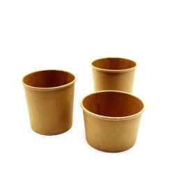 Comida sopa de macarrão tigela de sopa de papel Cup com tampa de plástico