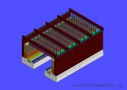 構築サービスの工場を作る粘土の煉瓦のためのトンネルキルン