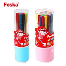 Pen van de Kleur van het Water van de Verpakking van de Trommel van de Goede Kwaliteit van het Ontwerp van Foska de Nieuwe