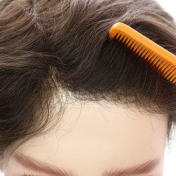 Repère plein de la peau naturelle des hommes perruque de cheveux humains