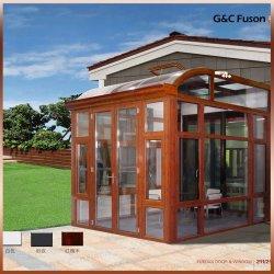 غرفة شمس من الألومنيوم على الطراز الأوروبي وحديقة شتوية لسقف القوس