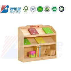 Biblioteca de la Escuela de madera estante para libros, muebles de jardín de infantes y preescolar, sala de juegos, muebles, Mostrar almacenamiento secundario de estante de libros, los niños de estante de libros