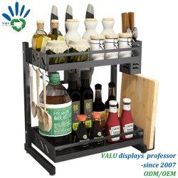 Rack de armazenamento de cozinha prateleira para frasco de temperos Especiarias e frascos e garrafas