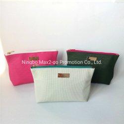 純粋な雪の白い珊瑚のピンクのカーキ色の緑PUの革装飾的な袋