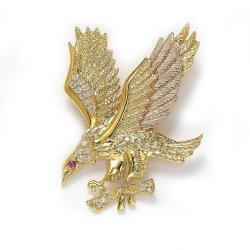 Nova chegada 925silver gold plating Jóias American Eagle pendente manual