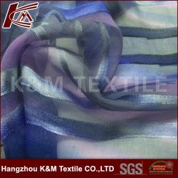 35%65%Rayon Desperdícios de seda tecido Royon Hand-Painted burn out