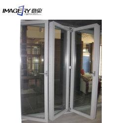 preço de fábrica UPVC de alta qualidade Portas Bi-Fold Corrediça com vidro duplo