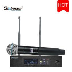Sinbosen Q-D4 Micrófono Inalámbrico de Mano Profesional de Alta Calidad para Escenario