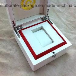 Contenitore di regalo lucido bianco di legno di lusso personalizzato del contenitore di pacchetto della vigilanza