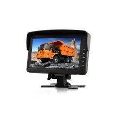 색깔 디지털 스크린은 2 AV 7 인치 대 접촉 키를 가진 혼자서 차 TFT LCD 모니터를 입력했다