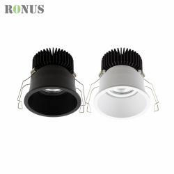 IP44 spot réglable de l'éclairage à LED Distributeur anti-reflet de gros 10W 15W 20W 30W vers le bas de plafond spotlight ampoule de feu de la lumière COB Downlight