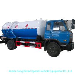 Le vide du réservoir d'aspiration des eaux usées Camion Citerne capacité effective 10500 (L) du carbone - Acier inoxydable Rhd ou DG 4X4 - 4X2